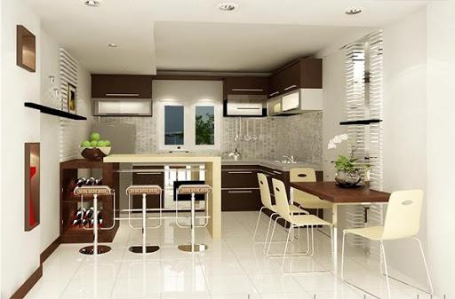 Ngắm nhìn nội thất phòng bếp nhà ống diện tích 30m2