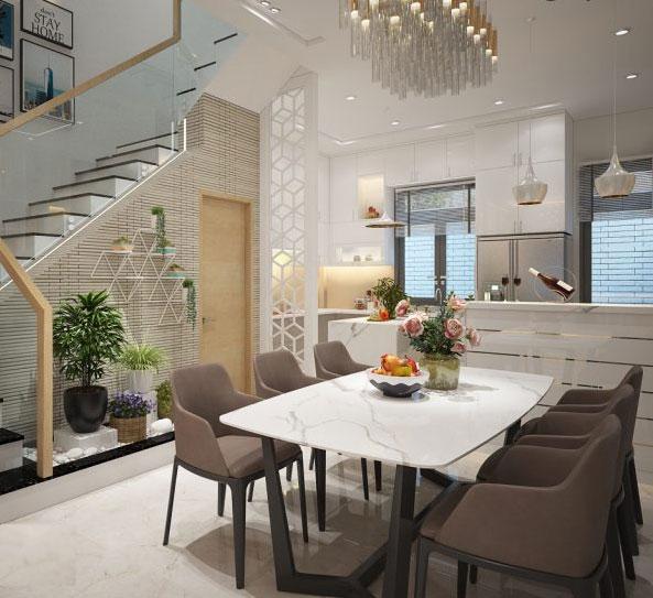 Giới thiệu mẫu thiết kế phòng bếp nhà ống 4 tầng đẹp