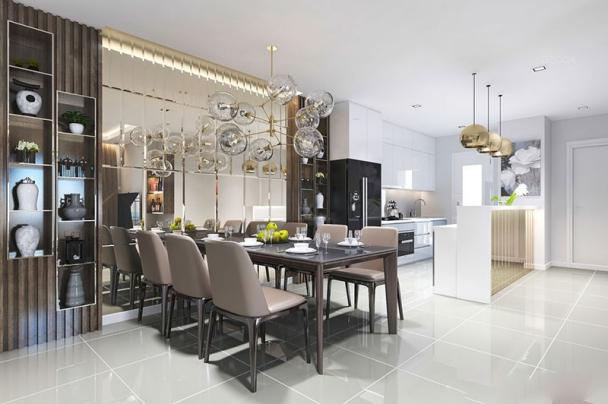 Ấn tượng với thiết kế nội thất phòng bếp nhà ống diện tích 60m2