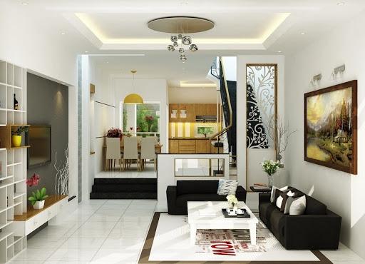 Giới thiệu mẫu thiết kế phòng khách nhà ống 4 tầng đẹp
