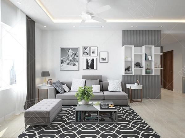Ấn tượng với thiết kế nội thất phòng khách nhà ống diện tích 60m2