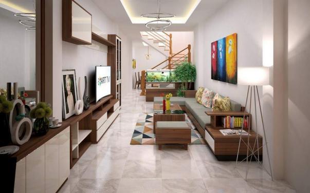Sắp xếp khoa học cho nội thất phòng khách nhà ống mặt tiền 3m