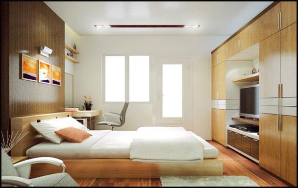 Mẫu thiết kế phòng ngủ nhà ống 1 tầng