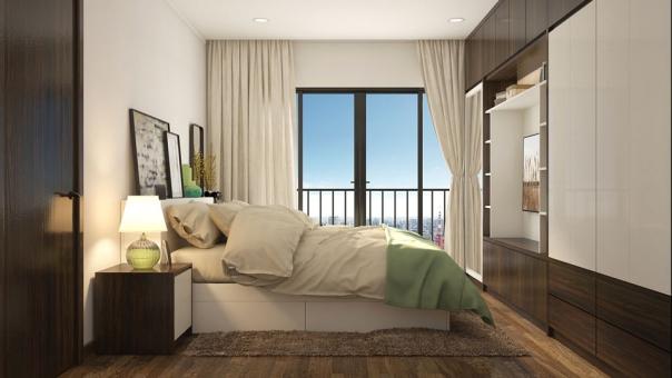 Ngắm nhìn nội thất phòng ngủ nhà ống diện tích 30m2