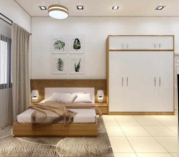Cuốn hút với thiết kế nội thất phòng ngủ nhà ống diện tích 50m2