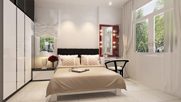 Sắp xếp khoa học cho nội thất phòng ngủ nhà ống mặt tiền 3m
