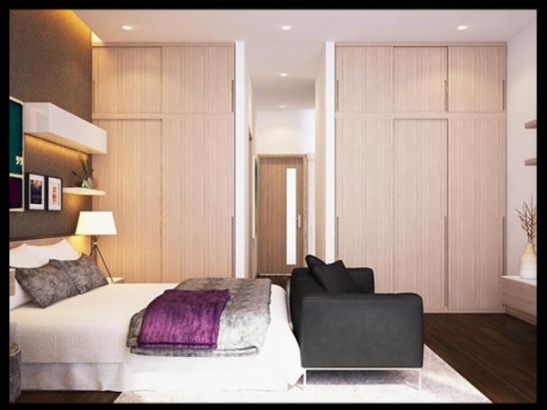Cách bố trí phòng ngủ nhà ống mặt tiền 4m