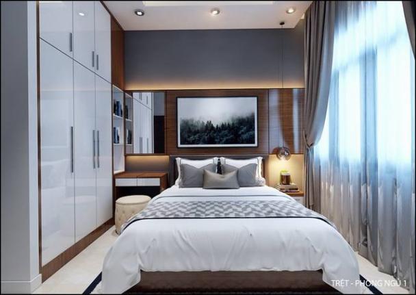 Nội thất phòng ngủ nhà ống mặt tiền 5m