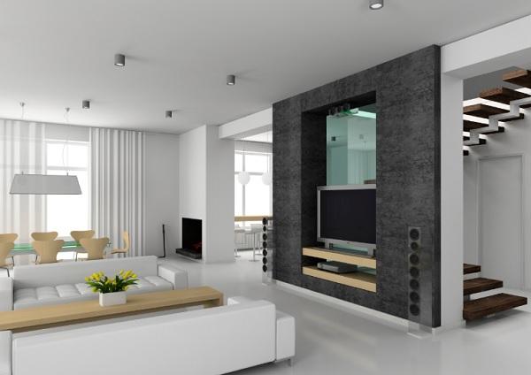 Ngắm nhìn mẫu vách ngăn phòng khách bằng thạch cao - Hình 3