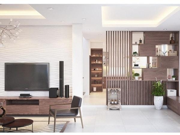 Phong cách mẫu vách ngăn phòng khách nhà chung cư đẹp - Hình 1