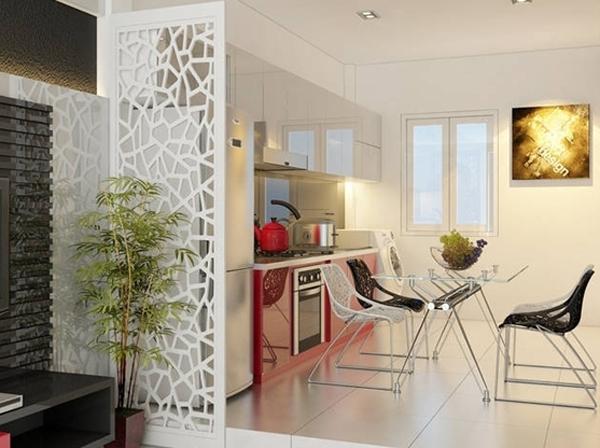 Phong cách mẫu vách ngăn phòng khách nhà chung cư đẹp - Hình 3