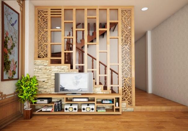 Săn lùng những mẫu vách ngăn phòng khách bằng gỗ công nghiệp - Hình 1
