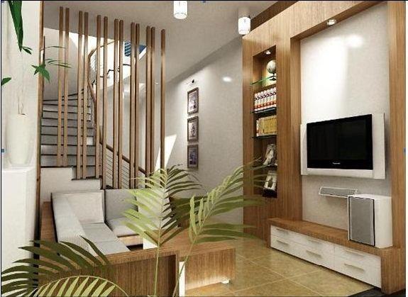 Điểm qua mẫu vách ngăn phòng khách và cầu thang - Hình 1