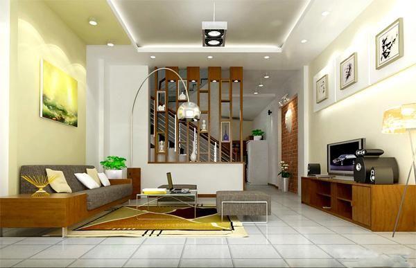 Điểm qua mẫu vách ngăn phòng khách và cầu thang - Hình 2