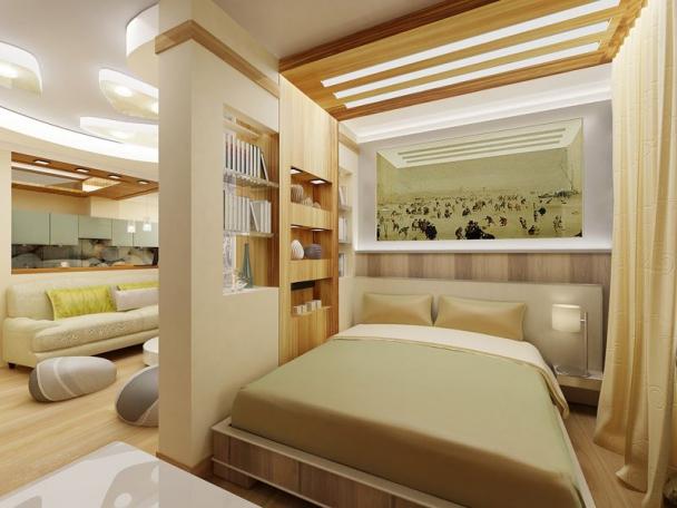 Hút mắt với mẫu vách ngăn phòng khách và phòng ngủ - Hình 1