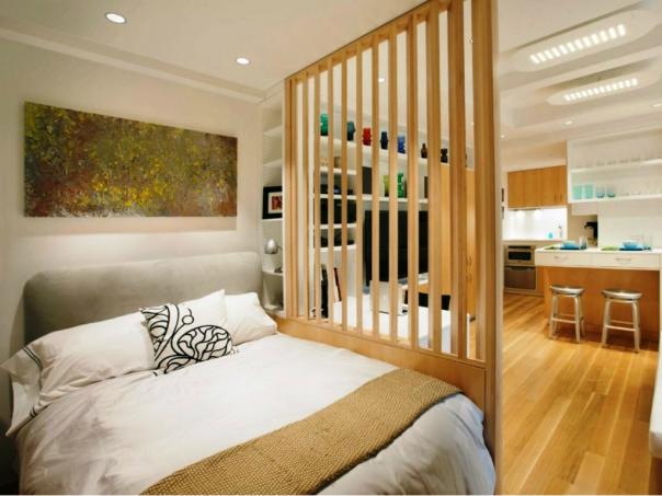 Hút mắt với mẫu vách ngăn phòng khách và phòng ngủ - Hình 2