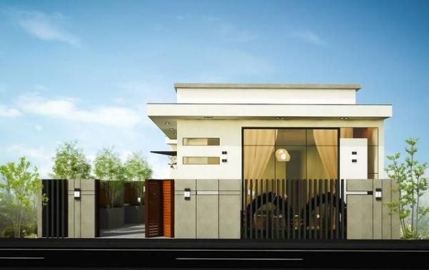 Mẫu thiết kế nhà phố 1 tầng kết hợp kinh doanh
