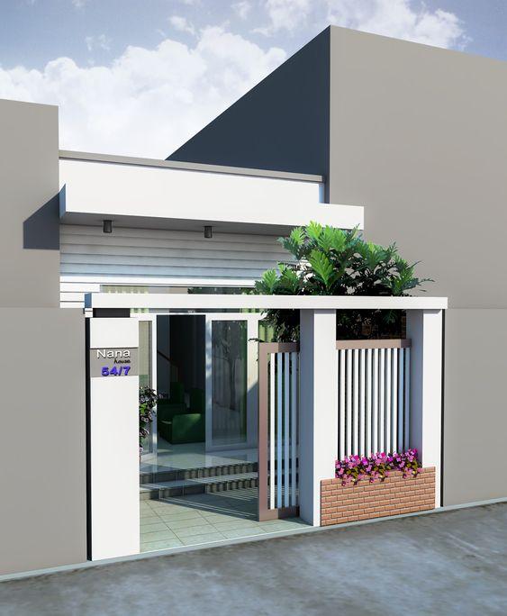 Mẫu thiết kế nhà phố 1 tầng mặt tiền 4m