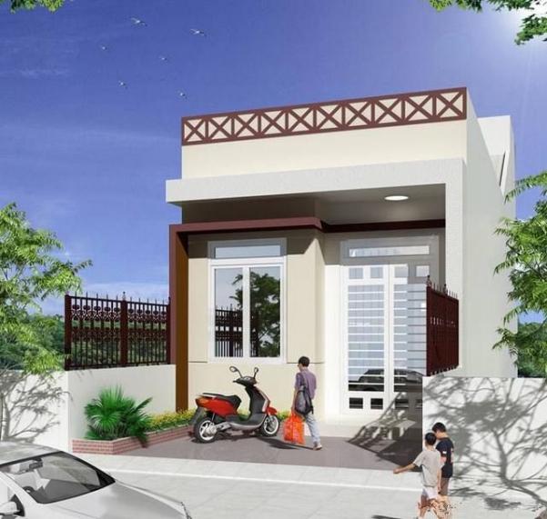 Mẫu thiết kế nhà phố 1 tầng mặt tiền 5m