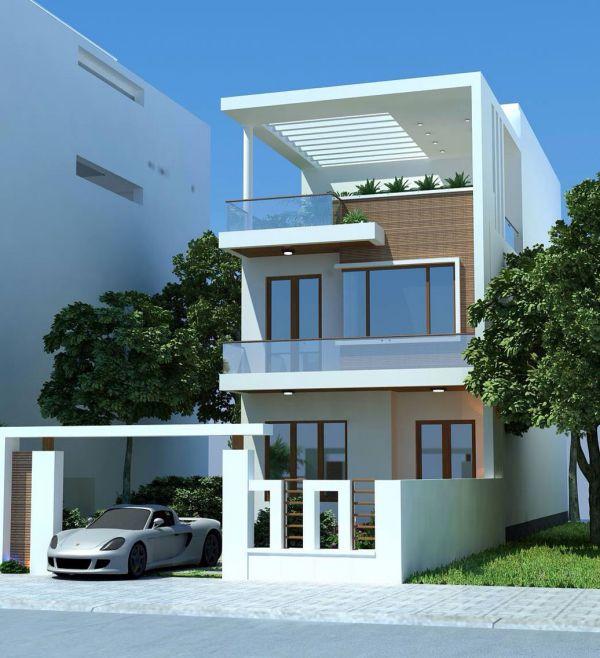 Thiết kế nhà phố 2 tầng có 4 phòng ngủ đẹp