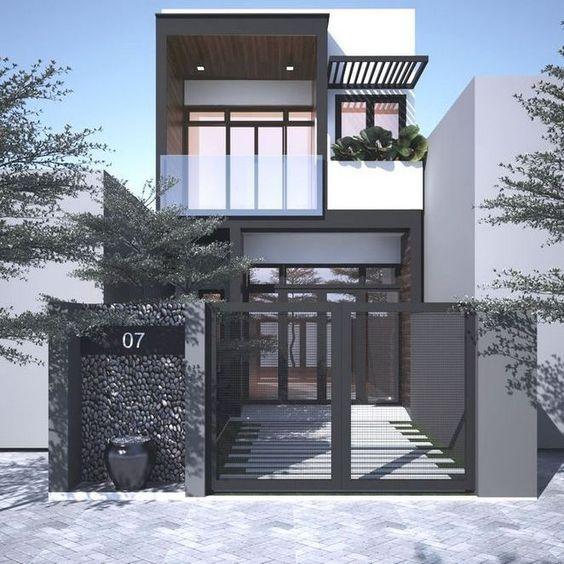 Bộ sưu tập thiết kế nhà phố 2 tầng kết hợp gara đẹp