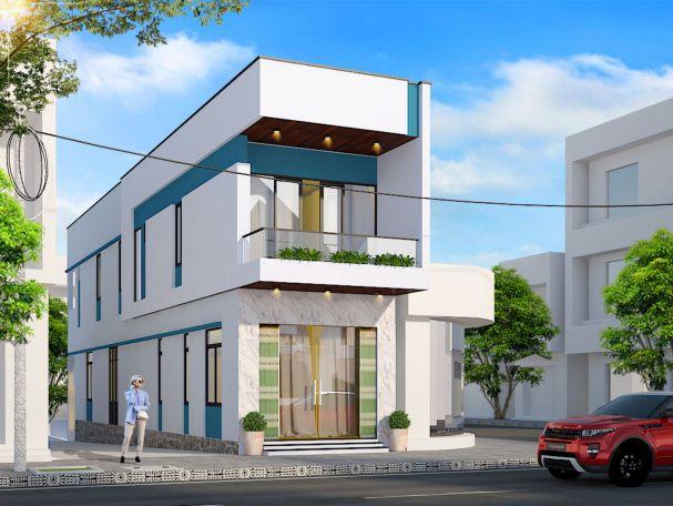 Thiết kế nhà phố 2 tầng kết hợp kinh doanh buôn bán
