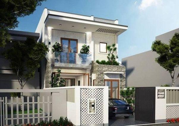 Bộ sưu tập thiết kế nhà phố 2 tầng mái bằng đẹp