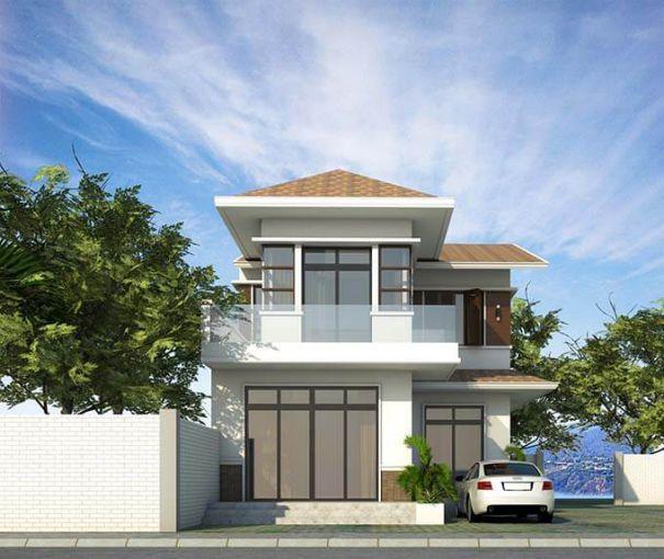 Bộ sưu tập thiết kế nhà phố 2 tầng mái ngói đẹp