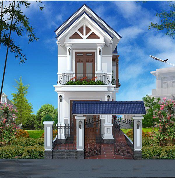 Bộ sưu tập thiết kế nhà phố 2 tầng mái thái đẹp