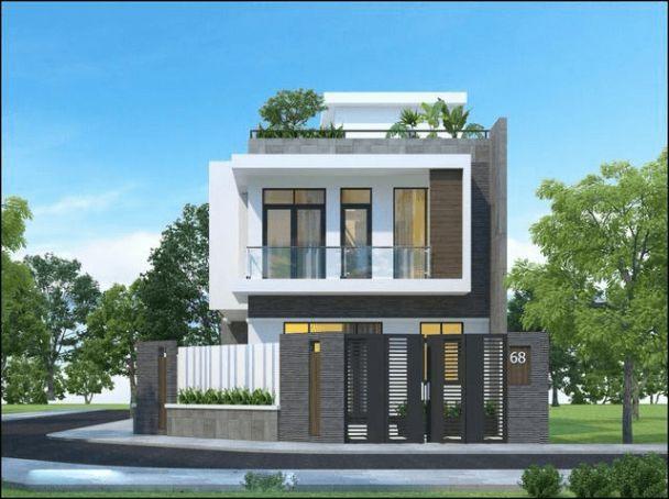Thiết kế nhà phố 2 tầng sở hữu mặt tiền 8m đẹp