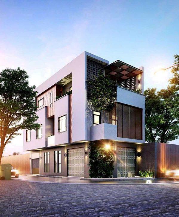 Sở hữu thiết kế nhà phố 3 tầng có 2 mặt tiền cực đẹp