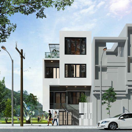Thiết kế nhà phố 3 tầng có thêm phần gác lửng đẹp