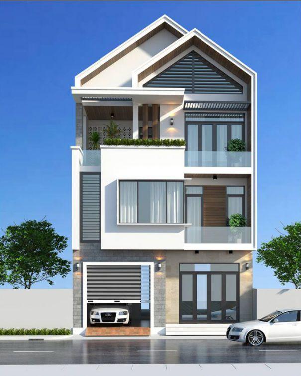 Thiết kế nhà phố 3 tầng mái ngói ấn tượng nhất