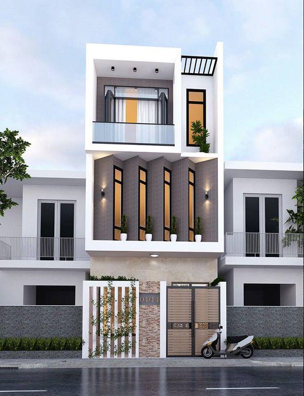 Thiết kế nhà phố 3 tầng mặt tiền 4m đẹp nhất