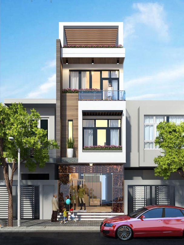 Thiết kế nhà phố 3 tầng mặt tiền 5m đẹp nhất