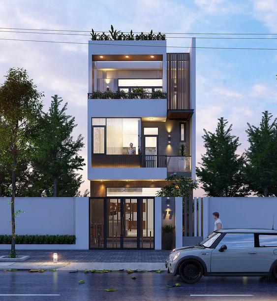 Thiết kế nhà phố 3 tầng mặt tiền 7m đẹp nhất