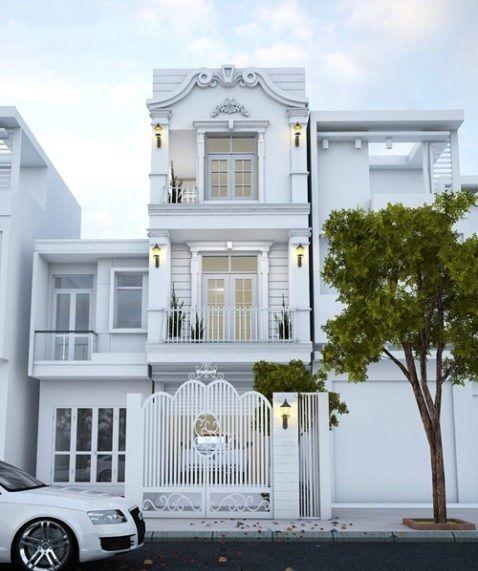 Chiêm ngưỡng thiết kế nhà phố 3 tầng phong cách tân cổ điển