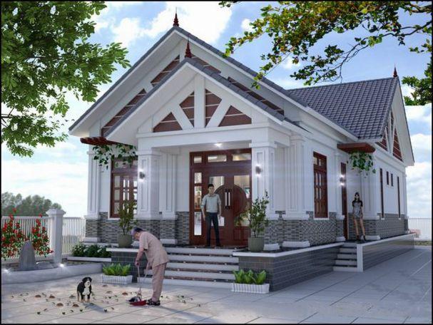 Tuyển chọn nhà ống 1 tầng có 3 phòng ngủ và 1 phòng thờ