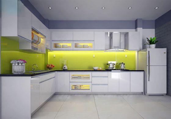 Mẫu tủ bếp inox acrylic đẹp