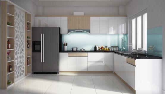 Giới thiệu mẫu tủ bếp hình chữ L đẹp - Hình 1