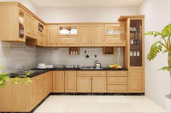 Mẫu tủ bếp gỗ tự nhiên đẹp và hot nhất hiện nay - Hình 1