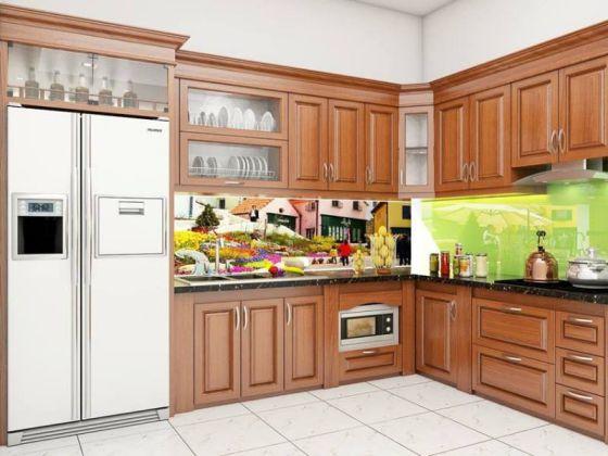 Mẫu tủ bếp gỗ tự nhiên đẹp và hot nhất hiện nay - Hình 2