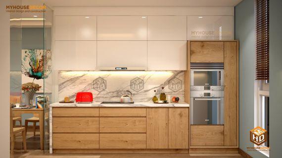 Mẫu tủ bếp gỗ tự nhiên đẹp và hot nhất hiện nay - Hình 3