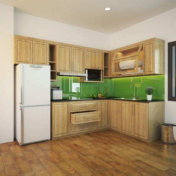 Mẫu tủ bếp gỗ tự nhiên đẹp và hot nhất hiện nay - Hình 5