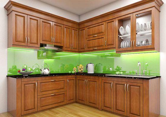 Các mẫu tủ bếp gỗ xoan đào đẹp nhất - Hình 1