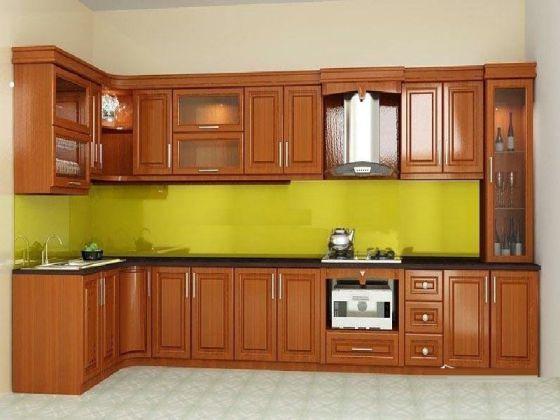 Các mẫu tủ bếp gỗ xoan đào đẹp nhất - Hình 3