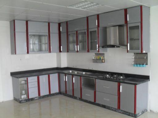 Mẫu tủ bếp nhôm inox đẹp