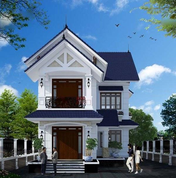Ấn tượng với mẫu nhà 2 tầng hình chữ l 3 phòng ngủ - Hình 2