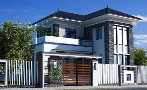 Giới thiệu mẫu nhà 2 tầng hình chữ l diện tích 90m2 - Hình 3