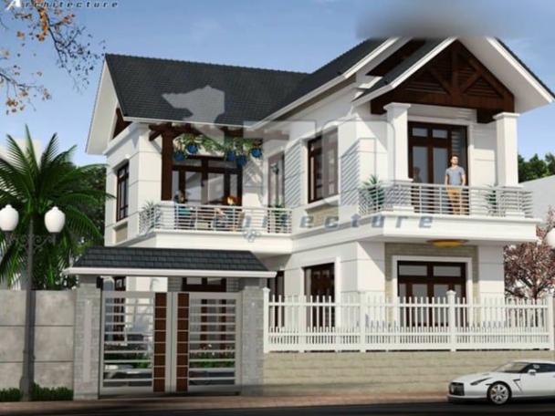 Giới thiệu mẫu nhà 2 tầng hình chữ l diện tích 90m2 - Hình 1